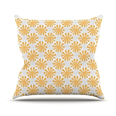 KESS InHouse Sunburst by Apple Kaur Designs Throw Pillow; 18'' H x 18'' W x 3'' D