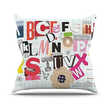 KESS InHouse ABC by Louise Machado Throw Pillow; 16'' H x 16'' W x 3'' D