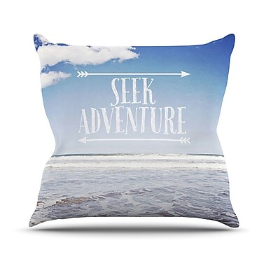 KESS InHouse Seek Adventure by Susannah Tucker Beach Throw Pillow; 20'' H x 20'' W x 4'' D