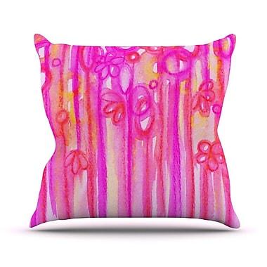 KESS InHouse Spring Sensations by Ebi Emporium Throw Pillow; 26'' H x 26'' W x 5'' D