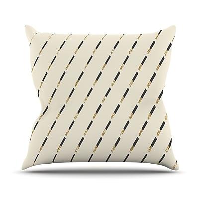 KESS InHouse Glitter Diagonals by Nika Martinez Throw Pillow; 18'' H x 18'' W x 3'' D
