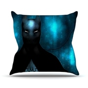 KESS InHouse Dark Knight by Mandie Manzano Throw Pillow; 20'' H x 20'' W x 4'' D