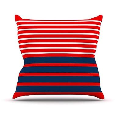 KESS InHouse Nauticki by Trebam Lines Throw Pillow; 20'' H x 20'' W x 4'' D
