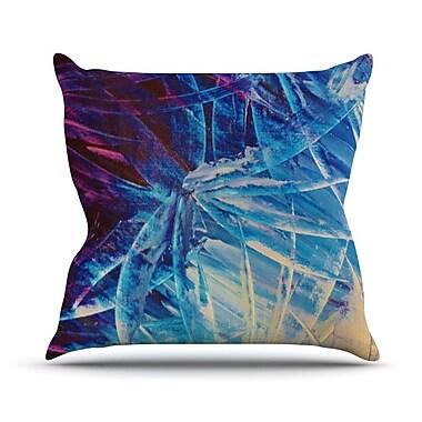 KESS InHouse Night Flowers by Ebi Emporium Throw Pillow; 20'' H x 20'' W x 4'' D