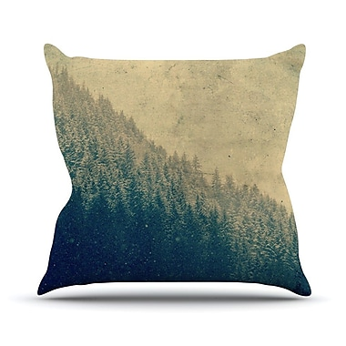 KESS InHouse Any Road Will Do by Robin Dickinson Mountain Tree Throw Pillow; 18'' H x 18'' W x 3'' D