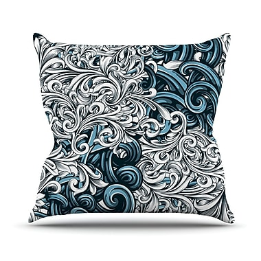 KESS InHouse Celtic Floral II by Nick Atkinson Abstract Throw Pillow; 26'' H x 26'' W x 5'' D