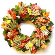 Dried Flowers and Wreaths LLC Colorful Fall Wreath