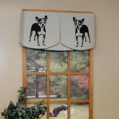 Curtain Chic Faithful Companions 3 Piece Chihuahua Dog Valance Set