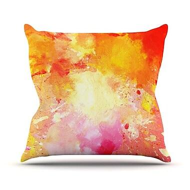 KESS InHouse Splash by CarolLynn Tice Throw Pillow; 16'' H x 16'' W x 1'' D