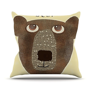 KESS InHouse Bear by Bri Buckley Throw Pillow; 26'' H x 26'' W x 1'' D