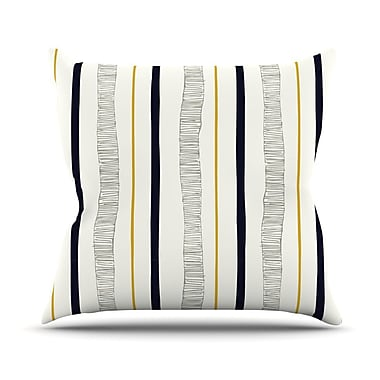 KESS InHouse Textured Stripes by Laurie Baars Abstract Throw Pillow; 20'' H x 20'' W x 4'' D