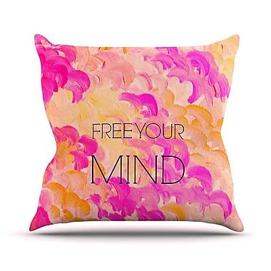 KESS InHouse Free Your Mind by Ebi Emporium Throw Pillow; 16'' H x 16'' W x 3'' D
