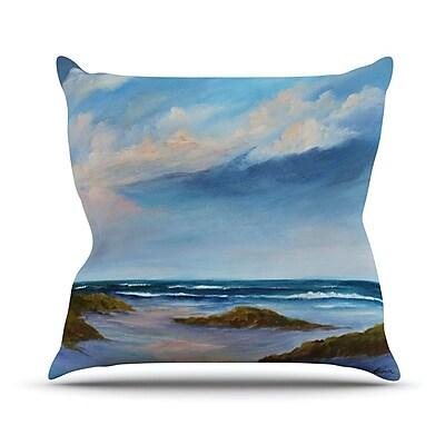 KESS InHouse Wet Sand by Rosie Brown Beach View Throw Pillow; 26'' H x 26'' W x 5'' D