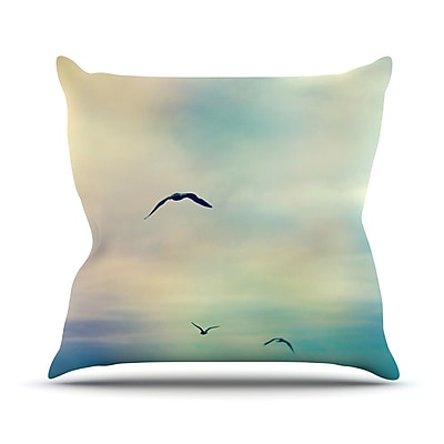 KESS InHouse Freedom by Sylvia Cook Birds Sky Throw Pillow; 20'' H x 20'' W x 4'' D
