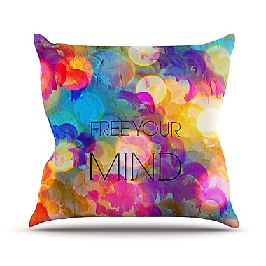 KESS InHouse Free Your Mind by Ebi Emporium Rainbow Throw Pillow; 26'' H x 26'' W x 5'' D