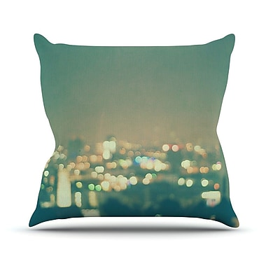KESS InHouse Anniversary by Myan Soffia City Lights Throw Pillow; 18'' H x 18'' W x 3'' D