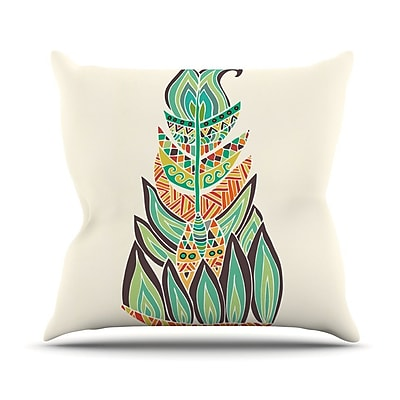 KESS InHouse Tribal Feather by Pom Graphic Throw Pillow; 16'' H x 16'' W x 3'' D