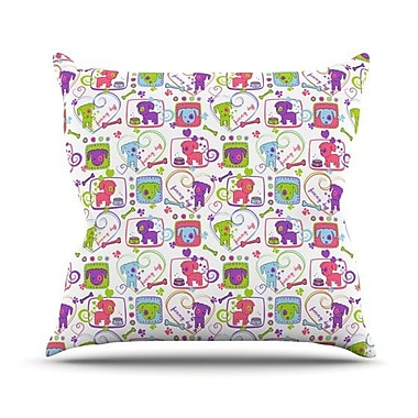 KESS InHouse My Loving Dogs by Julia Grifol Throw Pillow; 26'' H x 26'' W x 5'' D