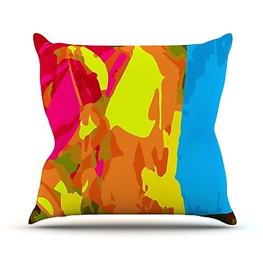 KESS InHouse Colored Plastic by Matthias Hennig Throw Pillow; 16'' H x 16'' W x 3'' D