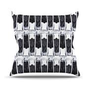 KESS InHouse Paint Tubes by Theresa Giolzetti Throw Pillow