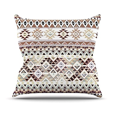 KESS InHouse Tribal Native in Pastel by Nika Martinez Throw Pillow; 16'' H x 16'' W x 3'' D