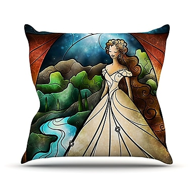KESS InHouse Think Of Me by Mandie Manzano Princess Throw Pillow; 16'' H x 16'' W x 3'' D