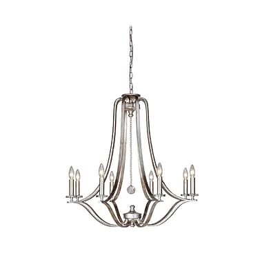 MarianaHome Crystal 8-Light Candle-Style Chandelier
