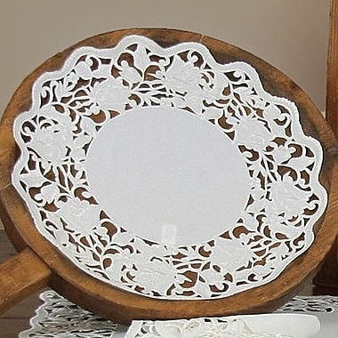 Xia Home Fashions Somerset Embroidered Cutwork Round Doily (Set of 4); 8''
