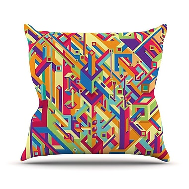 KESS InHouse Buracos by Roberlan Abstract Throw Pillow; 18'' H x 18'' W x 3'' D