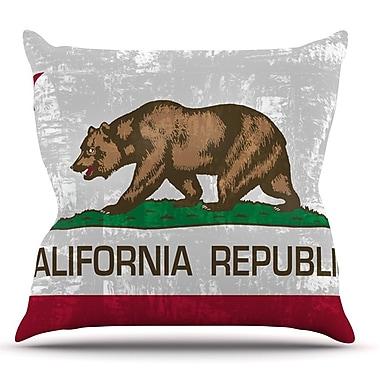 KESS InHouse California Flag by Bruce Stanfield Throw Pillow; 20'' H x 20'' W x 1'' D