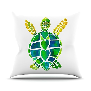 KESS InHouse Turtle Love by Catherine Holcombe Throw Pillow; 26'' H x 26'' W x 1'' D