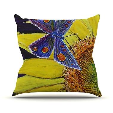 KESS InHouse Butterfly by David Joyner Throw Pillow; 20'' H x 20'' W x 1'' D