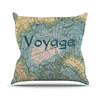 KESS InHouse Voyage by Catherine Holcombe Map Throw Pillow; 26'' H x 26'' W x 1'' D