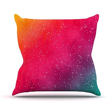 KESS InHouse Colorful Constellation by Fotios Pavlopoulos Glam Throw Pillow; 18'' H x 18'' W x 1'' D