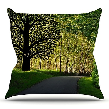 KESS InHouse Love Nature by Robin Dickinson Forest Throw Pillow; 26'' H x 26'' W x 5'' D