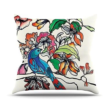 KESS InHouse Magic Garden by Sonal Nathwani Rainbow Bird Throw Pillow; 20'' H x 20'' W x 4'' D