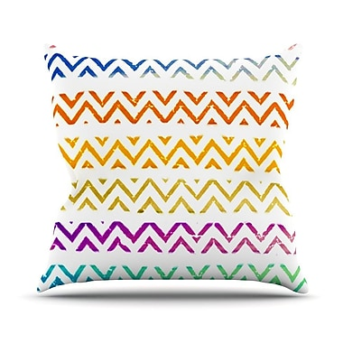 KESS InHouse Chevron Add by Sreetama Ray Warm Chevrons Throw Pillow; 18'' H x 18'' W x 3'' D