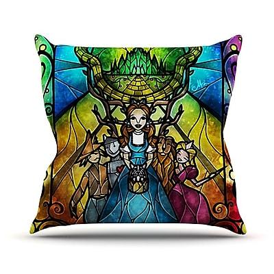 KESS InHouse Wizard of Oz by Mandie Manzano Fantasy Throw Pillow; 18'' H x 18'' W x 3'' D
