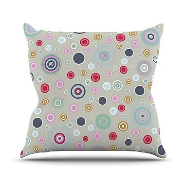 KESS InHouse Circle Circle I by Suzanne Carter Throw Pillow; 16'' H x 16'' W x 3'' D
