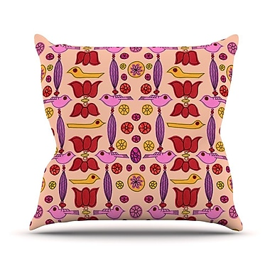 KESS InHouse Indian Jewelry Repeat by Jane Smith Throw Pillow; 18'' H x 18'' W x 3'' D