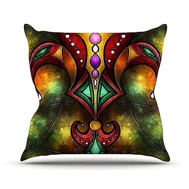 KESS InHouse Fleur De Lis by Mandie Manzano Warm Throw Pillow; 18'' H x 18'' W x 3'' D