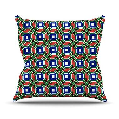 KESS InHouse South Africa by Bruce Stanfield Throw Pillow; 26'' H x 26'' W x 1'' D