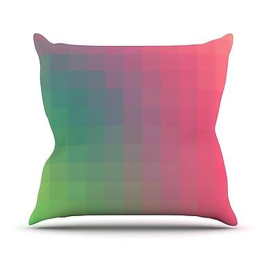 KESS InHouse Gradient Print by Danny Ivan Cotton Throw Pillow; 16'' H x 16'' W x 1'' D