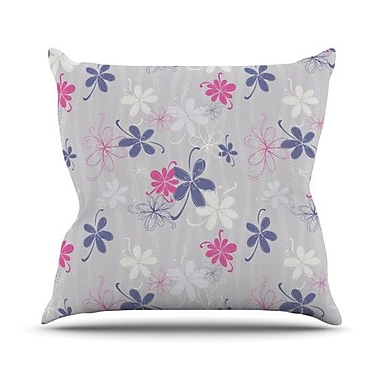 KESS InHouse Lively Blossoms by Emma Frances Throw Pillow; 20'' H x 20'' W x 1'' D
