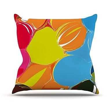 KESS InHouse Bubbles by Matthias Hennig Rainbow Throw Pillow; 18'' H x 18'' W x 3'' D