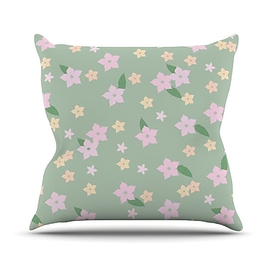KESS InHouse Spring Floral Throw Pillow; 18'' H x 18'' W x 3'' D