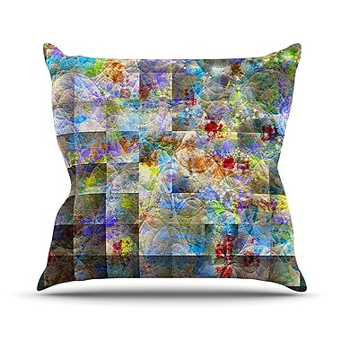 KESS InHouse Yggdrasil by Michael Sussna Rainbow Abstract Throw Pillow; 18'' H x 18'' W x 3'' D