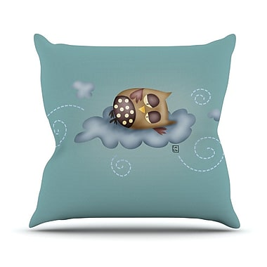 KESS InHouse Sleepy Guardian by Carina Povarchik Owl Throw Pillow; 16'' H x 16'' W x 1'' D