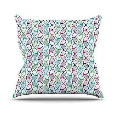 KESS InHouse Geeky DNA by Holly Helgeson Throw Pillow; 20'' H x 20'' W x 1'' D