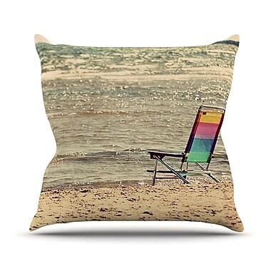 KESS InHouse Beach Chair by Angie Turner Sandy Beach Throw Pillow; 20'' H x 20'' W x 1'' D